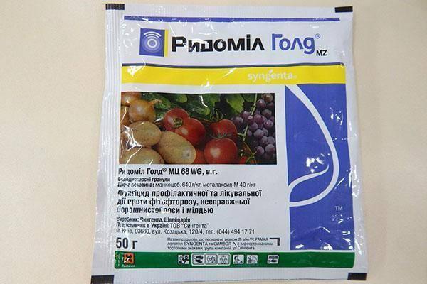 Эффективный фунгицид ридомил голд для томатов, винограда и других культур