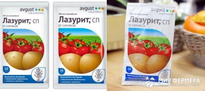 """Гербицид """"лазурит"""" от сорняков на картошке: инструкция, отзывы"""