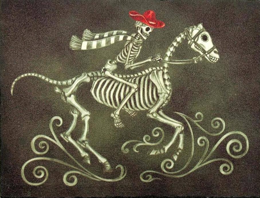 Лошадь скинула