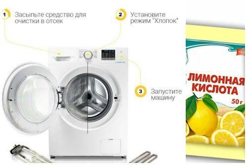 Как почистить стиральную машину лимонной кислотой от накипи, запаха и плесени в домашних условиях