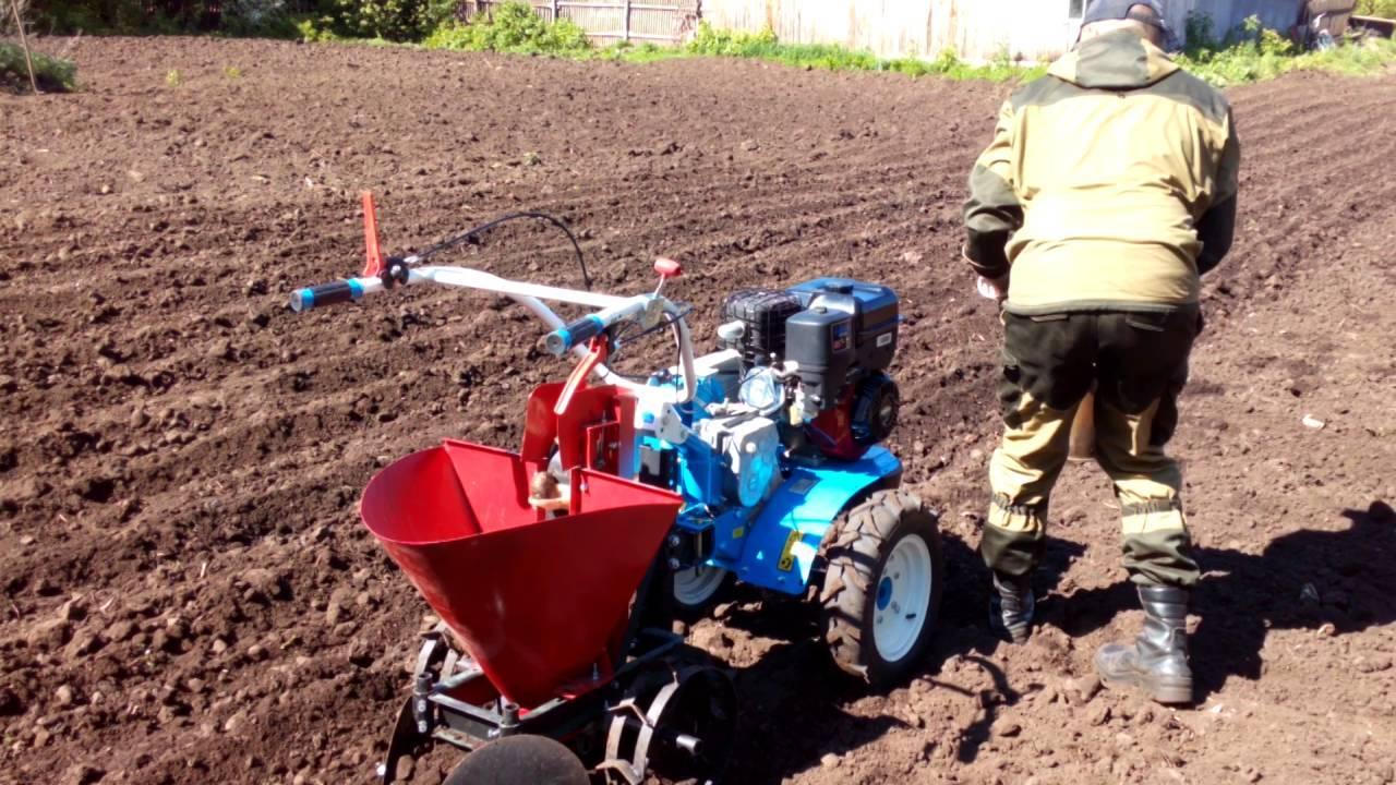 Посадка картофеля мотоблоком: уборка и обработка картошки до сбора урожая – глубина и ширина