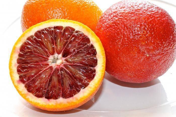 Сорта и характеристики, польза сицилийских красных апельсинов