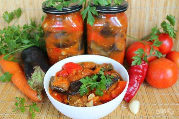 Острый салат из баклажанов на зиму - национальные секреты зимних закусок: рецепт с фото и видео