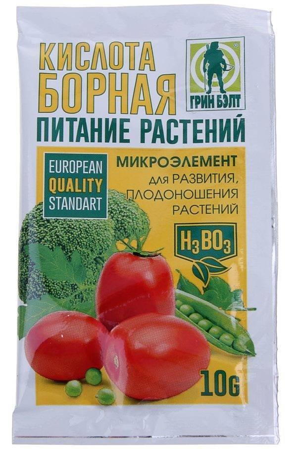 Борная кислота: применение на огороде и в саду