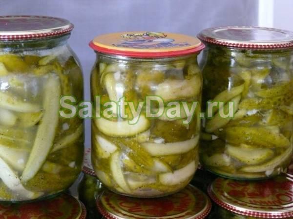 Салат из огурцов с горчицей на зиму — обалденная закуска