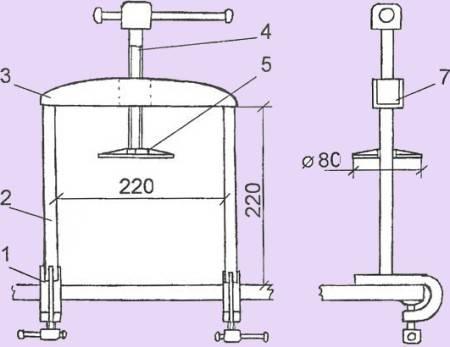 Пресс для винограда - для отжима своими руками, как сделать из стиральной машины, самодельный из подручных