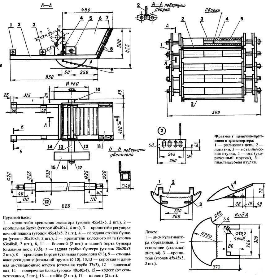 ✅ как сделать картофелекопалку для мотоблока своими руками - чертеж - байтрактор.рф