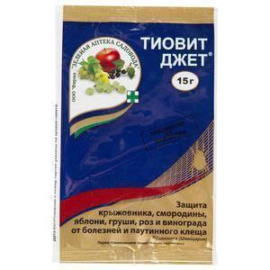 Фунгицид тиовит джет: описание, инструкция по применению и отзывы садоводов