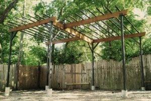 Навес для винограда (21 фото): как сделать своими руками виноградные конструкции из металла и профильной трубы